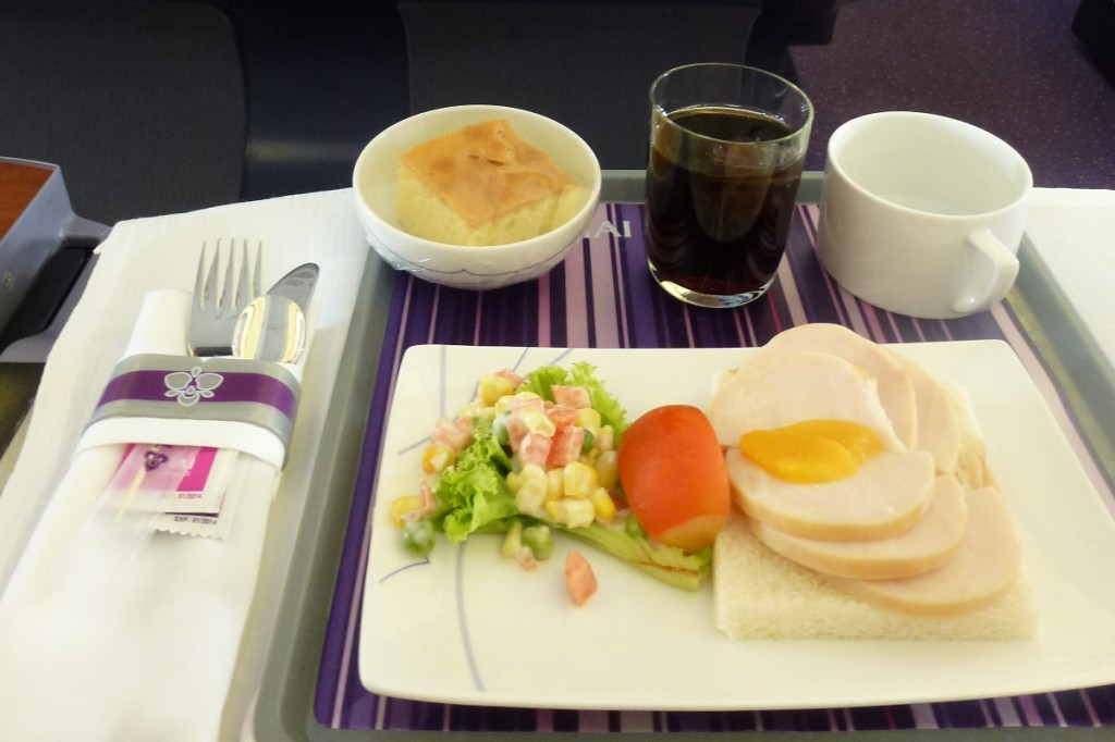 Thai Airways Business Class - Catering