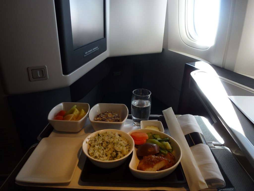 Cathay Pacific Business Class A330 - Catering
