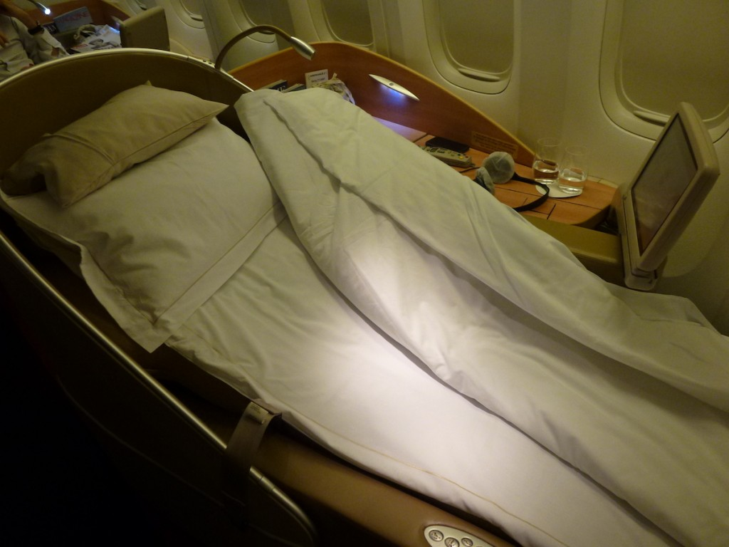 Air France La Premiere - Seat turned into bed