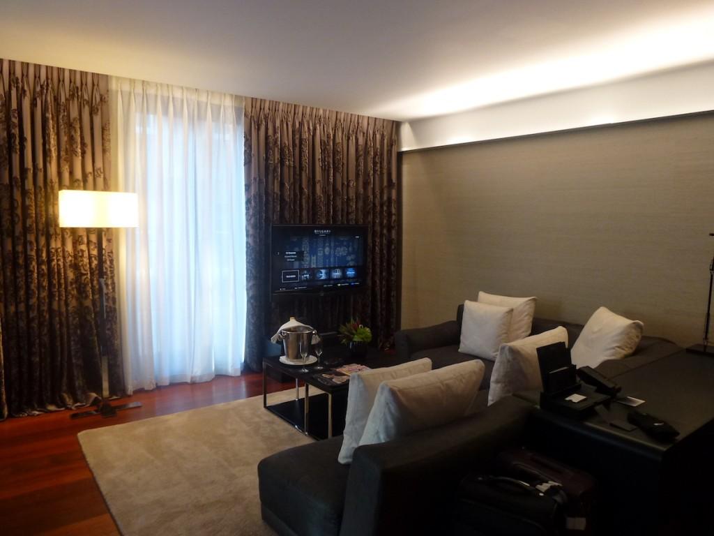 Bulgari London Knightsbridge Suite - Living room