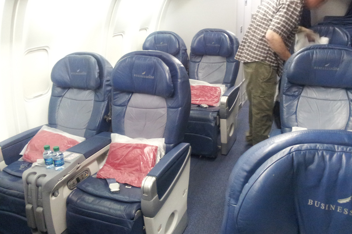 Delta Airlines Business Class, an old fashion style