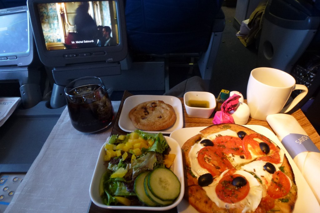 Delta Airlines Business Class - Main dish