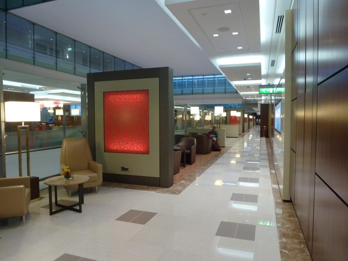Emirates Business Class Lounge in Dubai