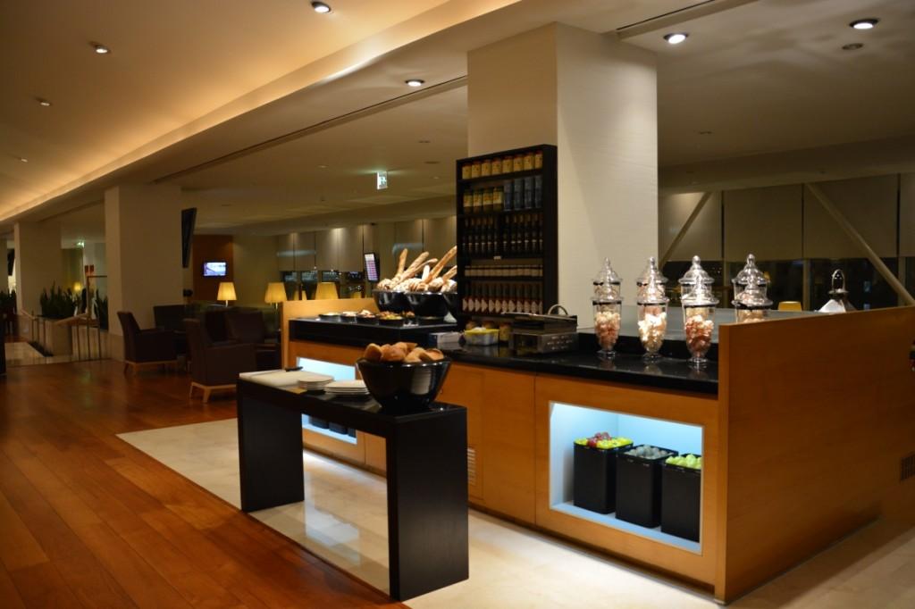Qatar Airways Premium Terminal - First Class lounge sandwich bar