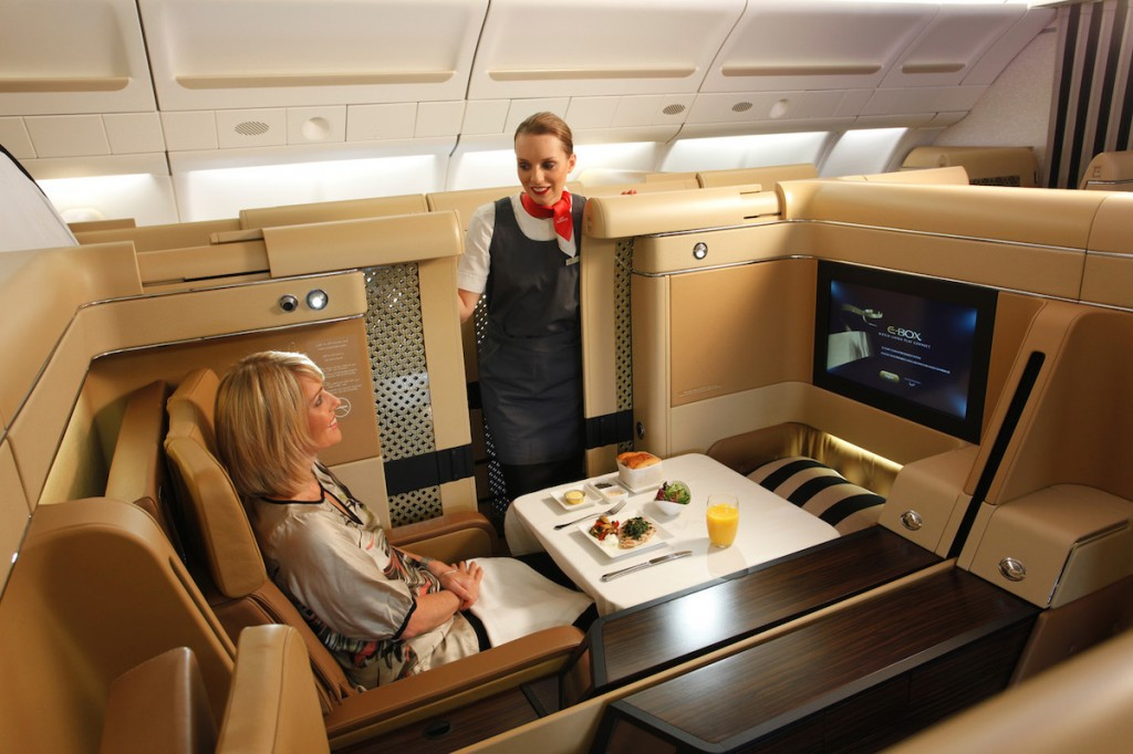 Etihad Airways Diamond First Class - Staff introduction
