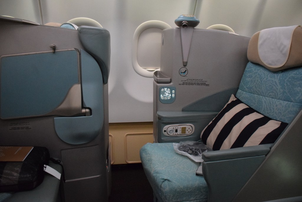 Etihad Airways Pearl Business Class - Window seat