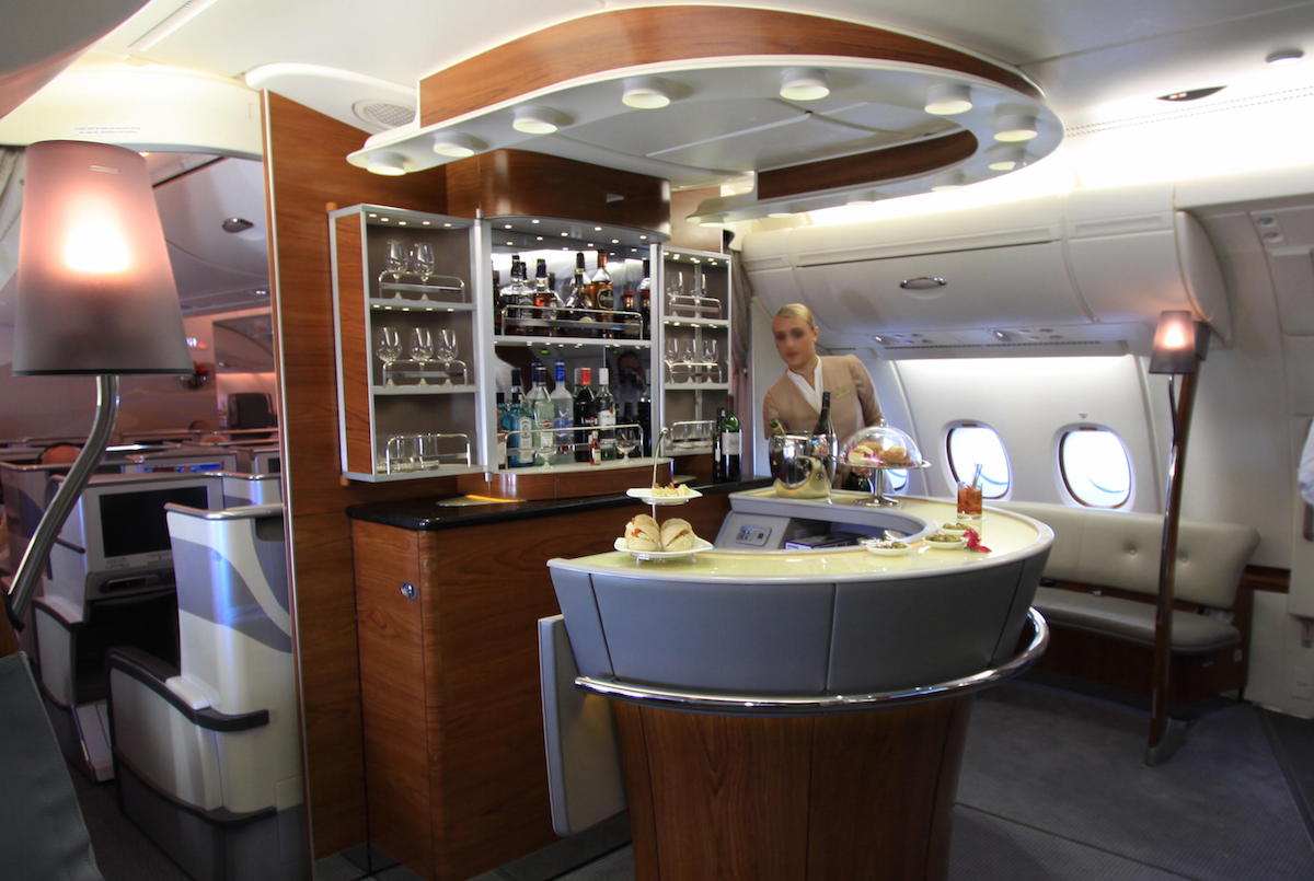A single way in A380 Emirates Business Class