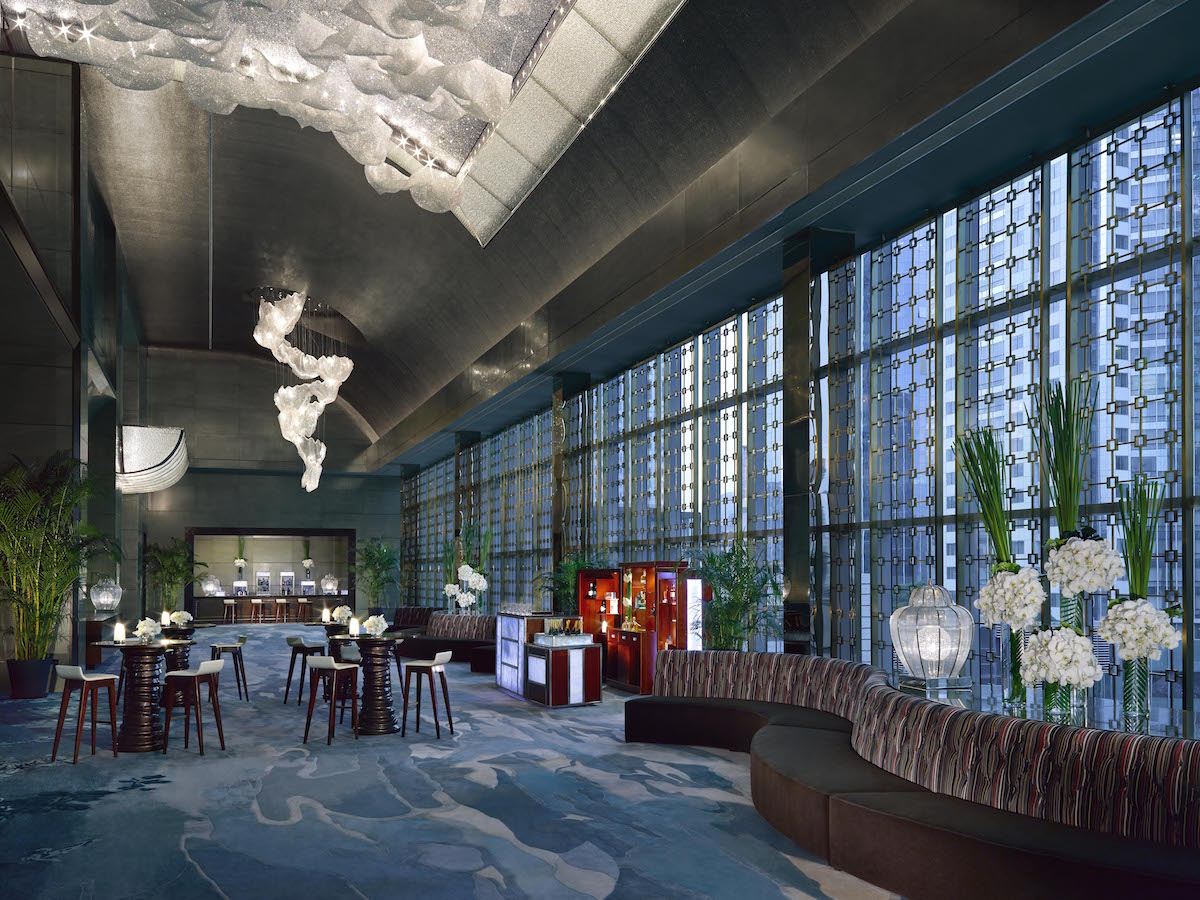 Grand Ballroom Foyer : Shanghai at its best with jing an shangri la the luxe