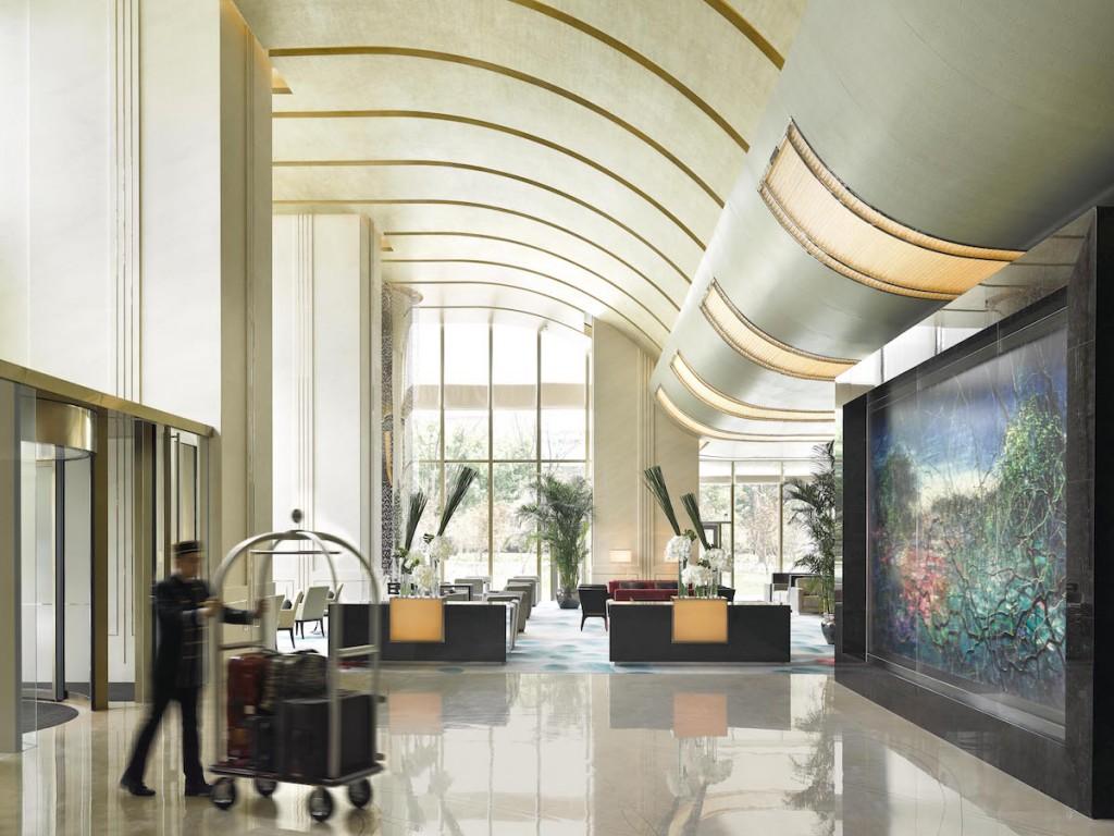 Jing An Shangri-La - Lobby entrance