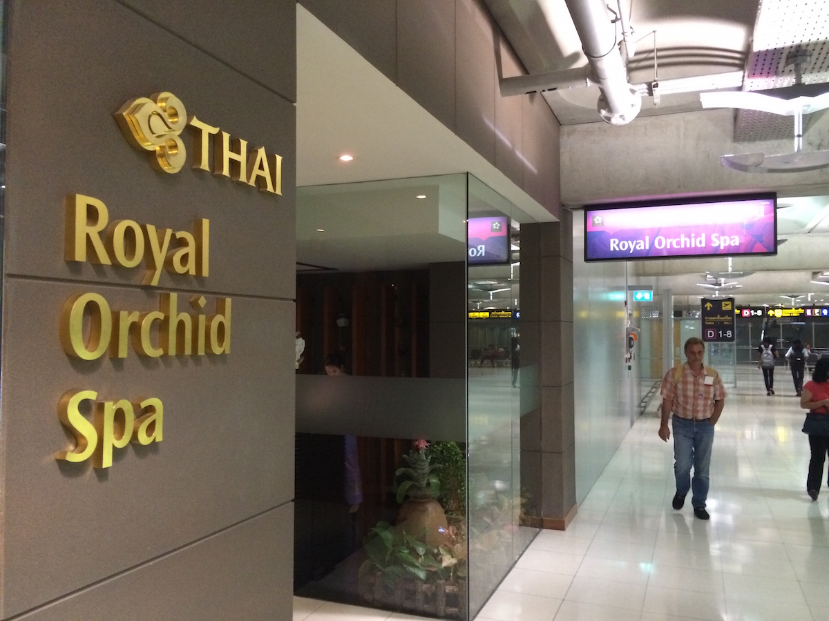 Stopover at Royal Orchid Spa in Bangkok airport