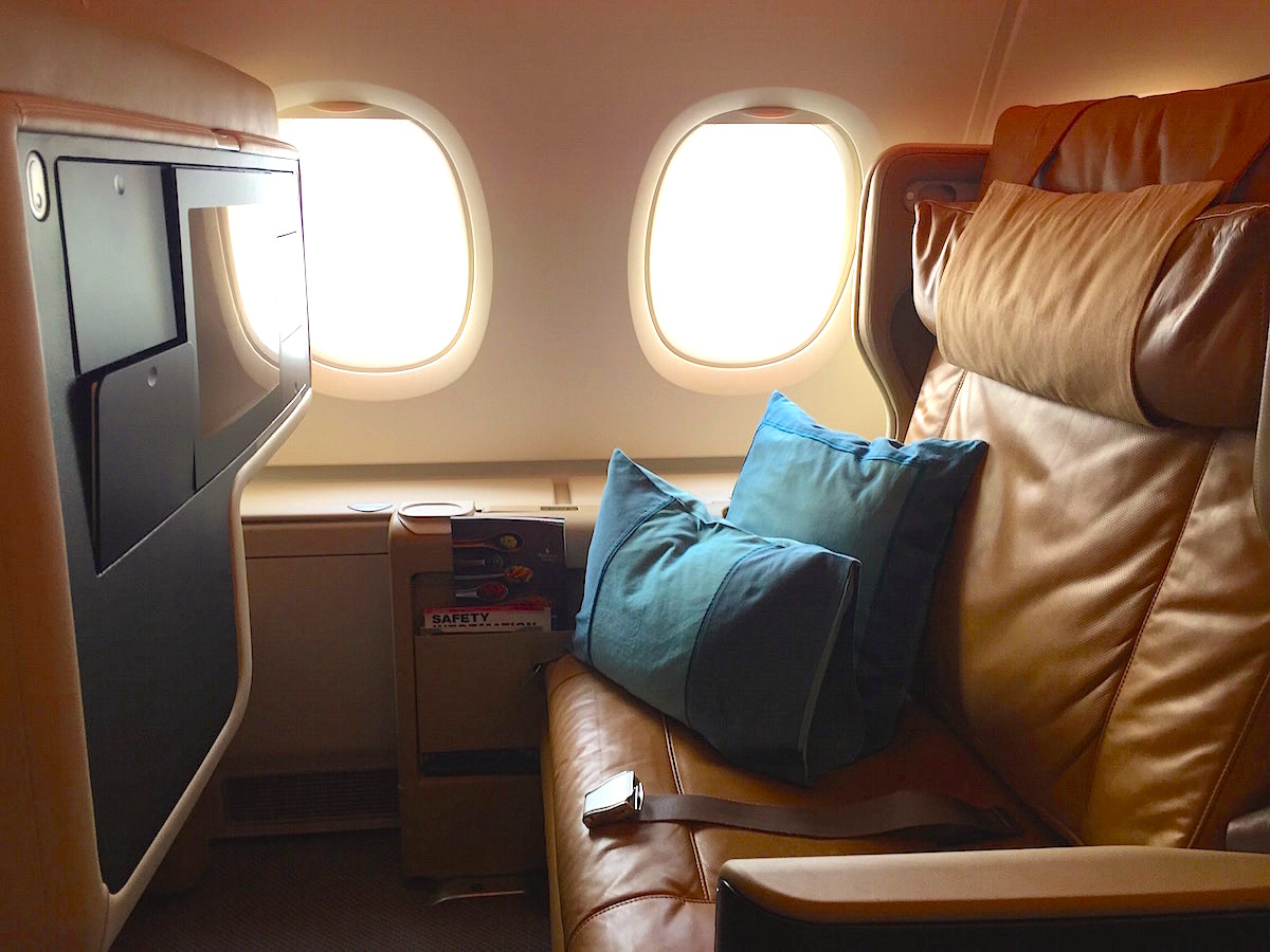Singapore Airlines A380 Business Class, largest seat ever