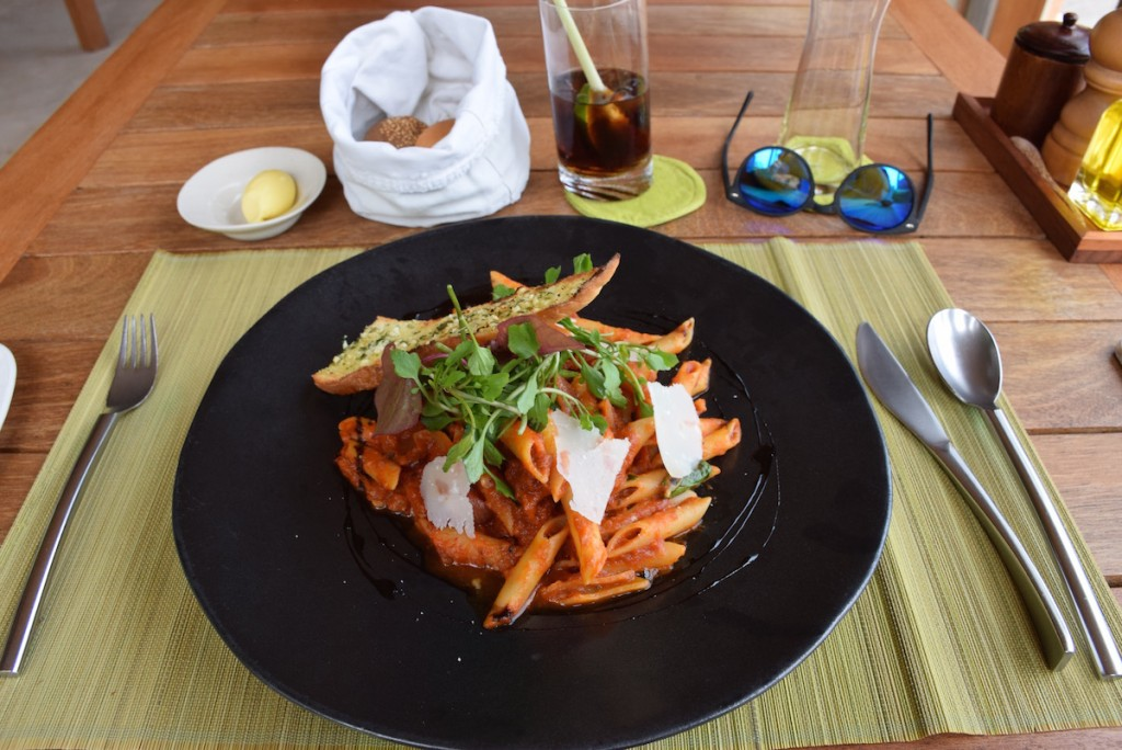 Six Senses Con Dao - By The Beach Restaurant penne pomodoro