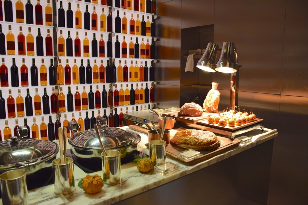New Year brunch at Le Royal Monceau - Hot meat buffet