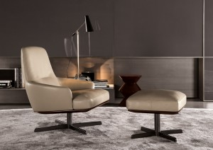 Luxury Italian furnitures - Coley Soft Swivel Armchair
