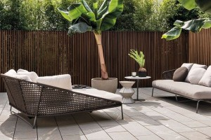 Luxury Italian furnitures - Aston Cord Loveseat Dormeuse outdoor