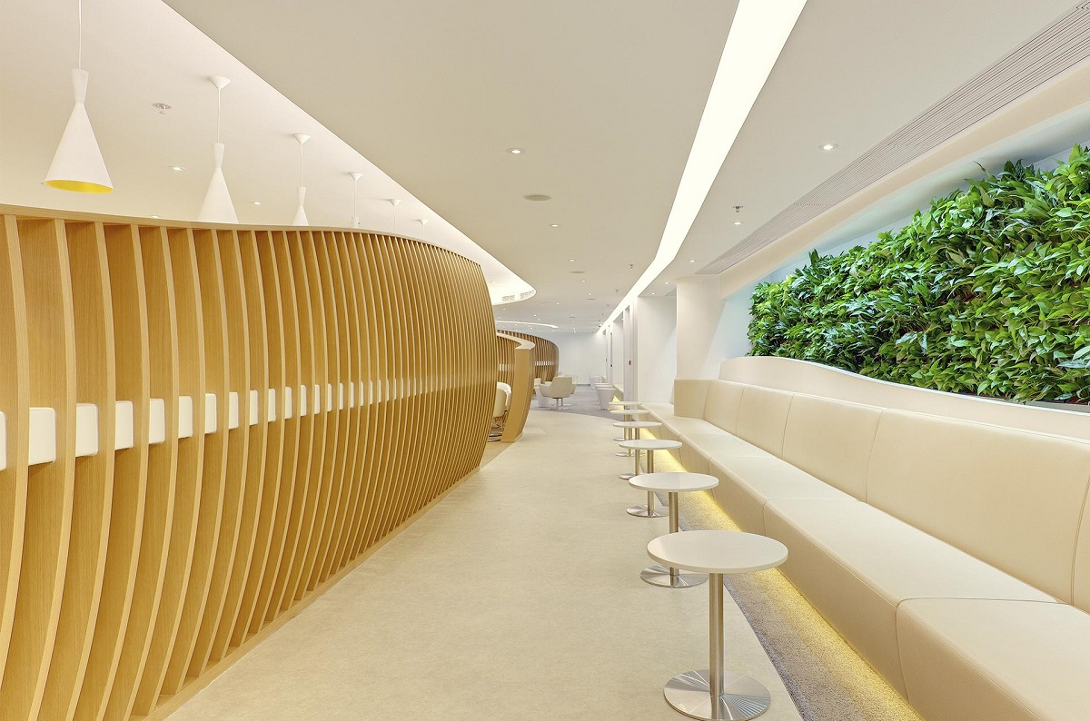 Skyteam lounge at Hong Kong international airport
