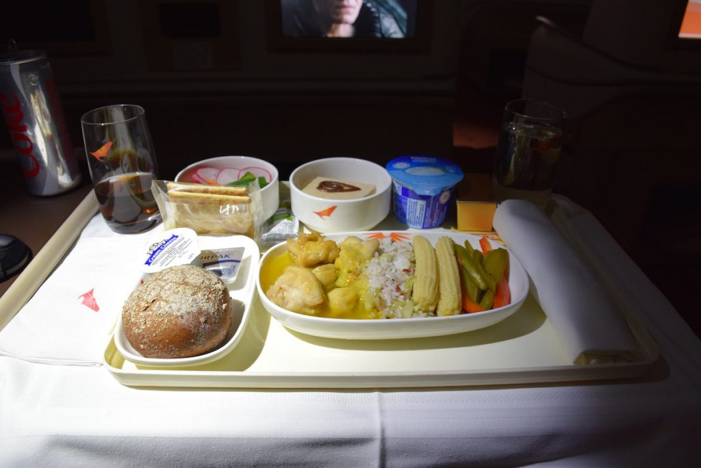 Air India Executive Class - Dinner