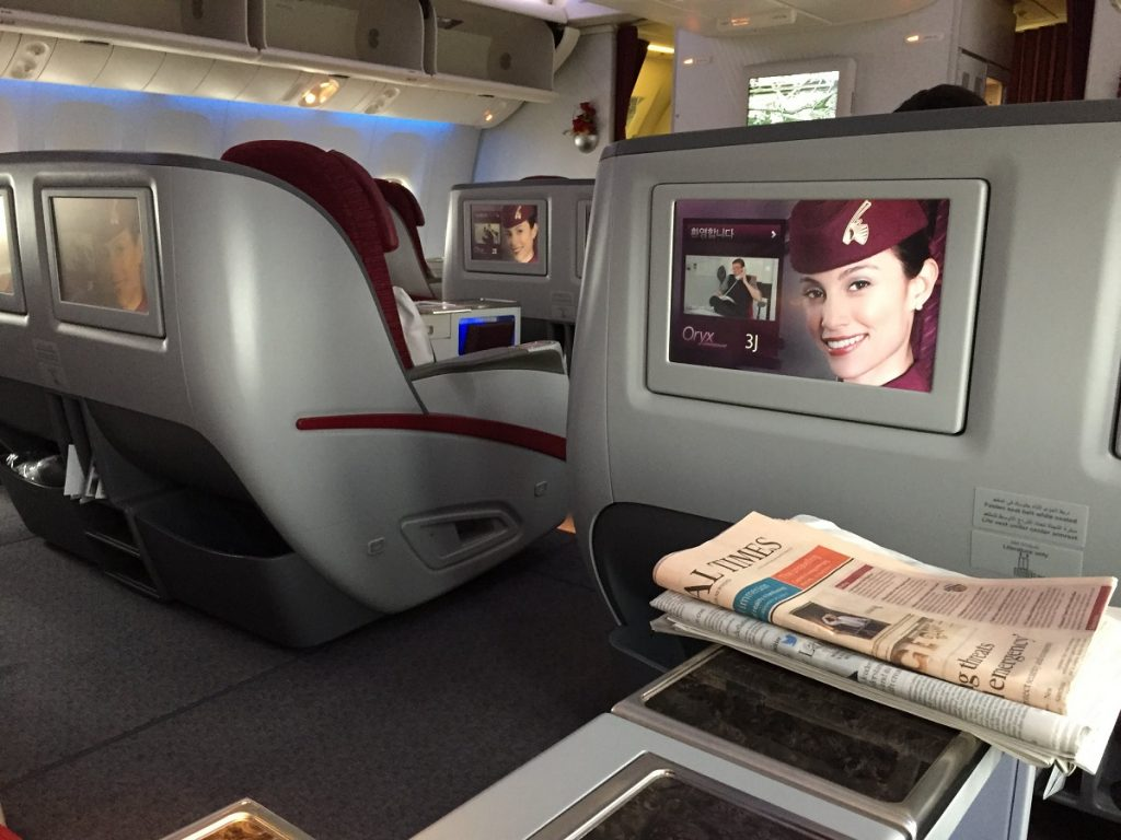 Qatar Airways Business Class - Seat