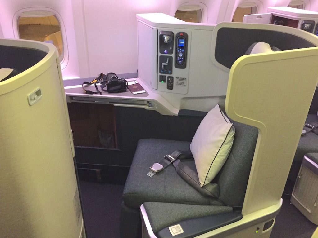 Cathay Pacific Business Class - 21G Seat