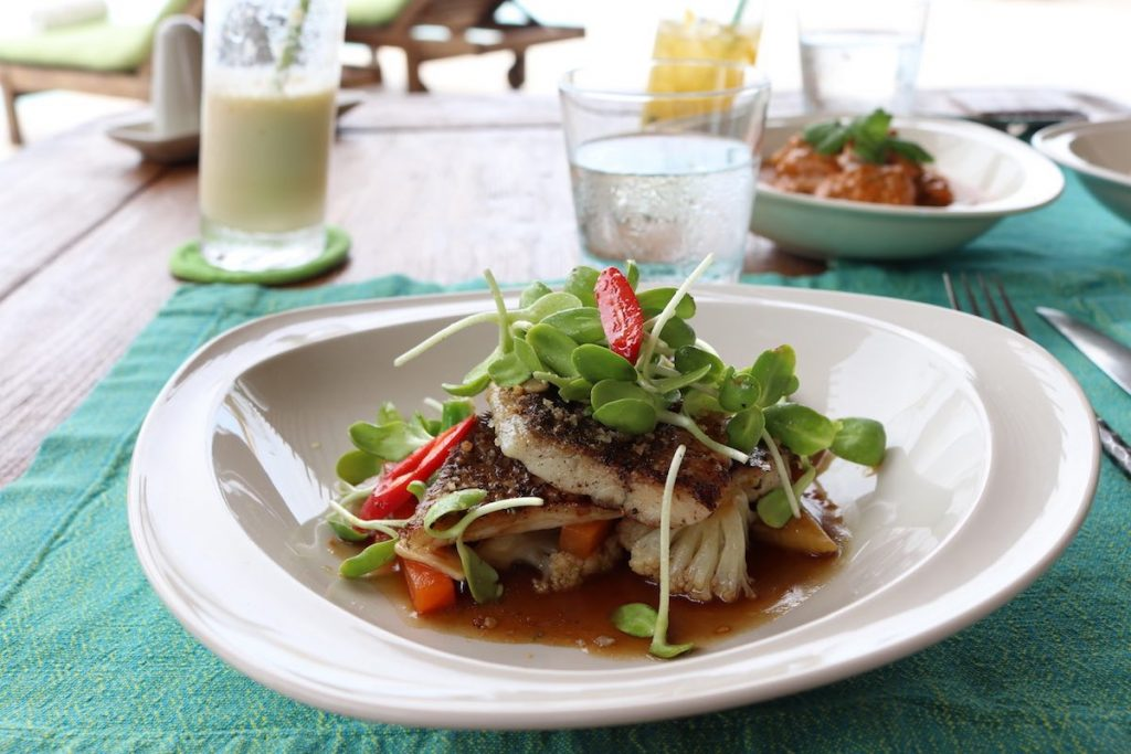 Fresh local seabass at Hilltop Reserve