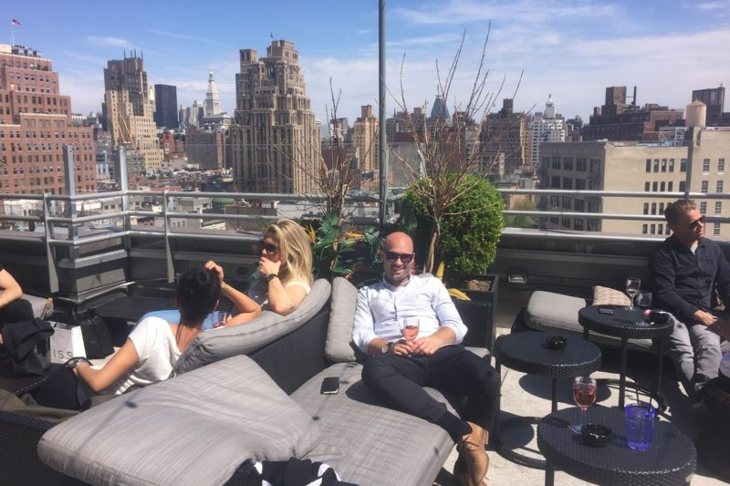 Hans at Gansevoort Meatpacking rooftop