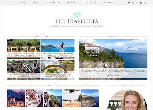 The Travelista - homepage