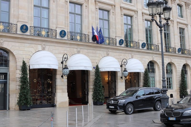 Ritz Paris main entrance