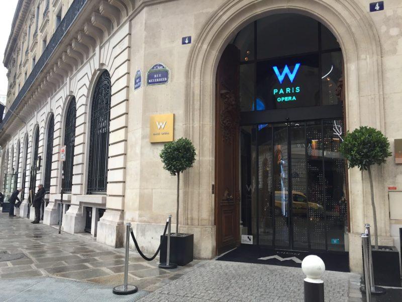 W Paris Opera entrance