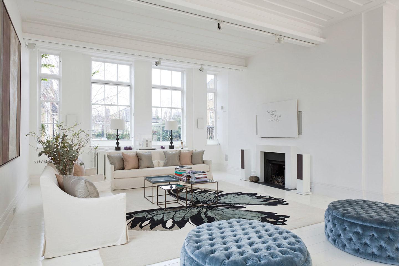 White home interior