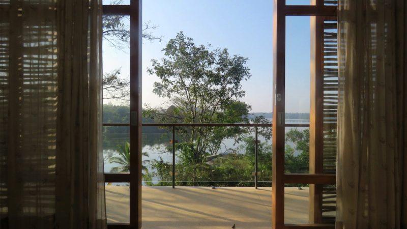 Balcony view from villa