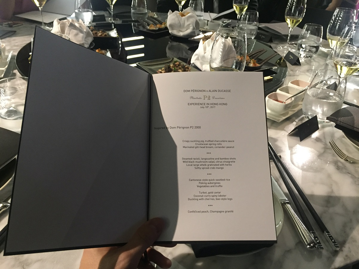 Alain Ducasse 8-course dinner menu