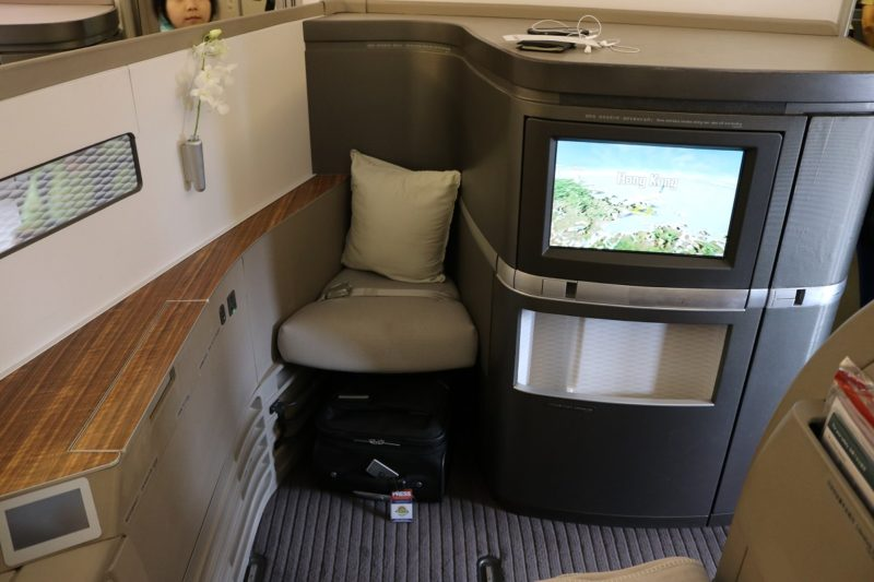 First class seat overview