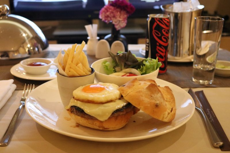 Okura Burger from room service