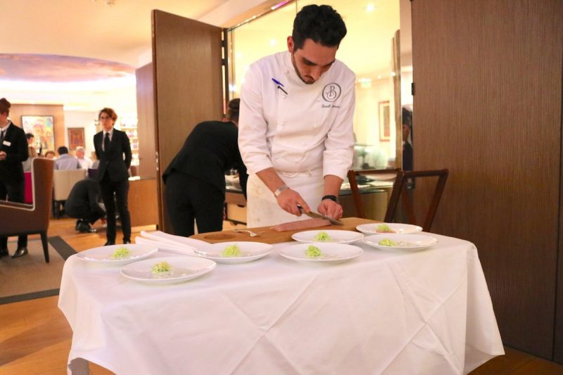 Chef Lowell Mesnier preparing starters