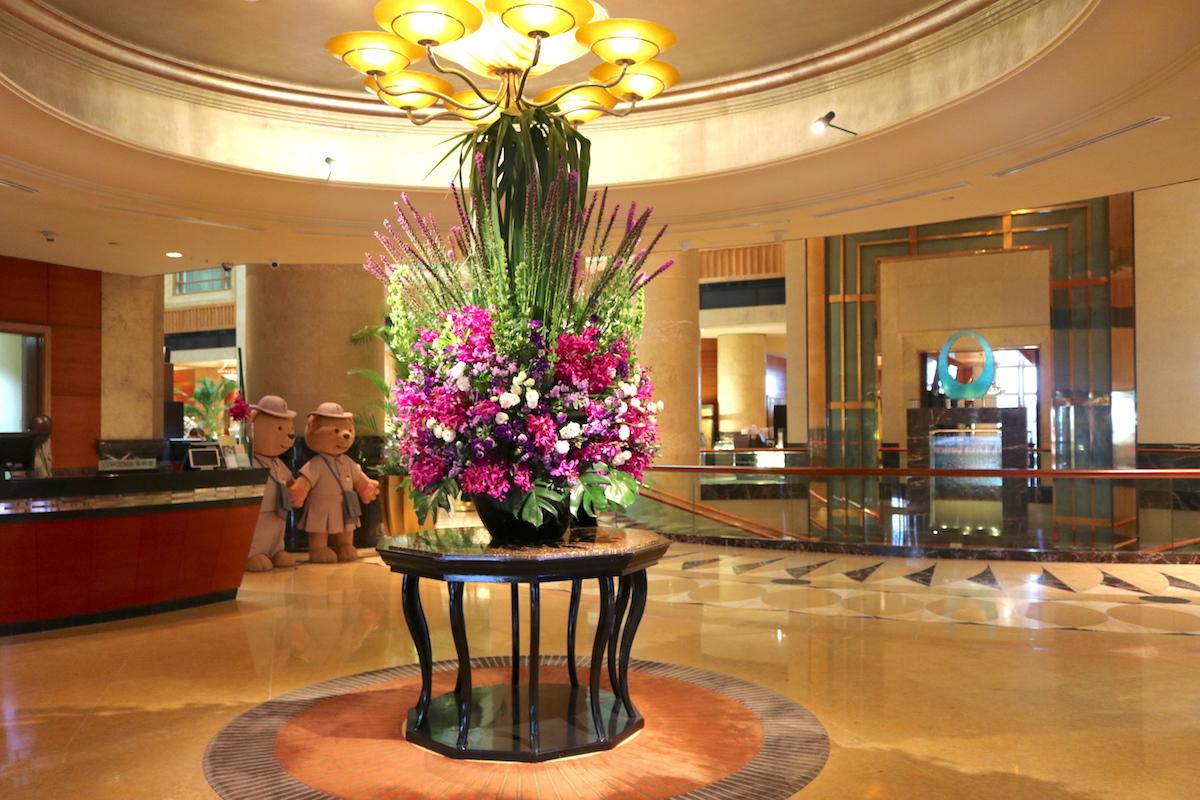 Flower in lobby