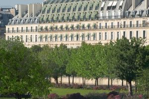 Le Meurice - Haussmann building on Rue de Rivoli