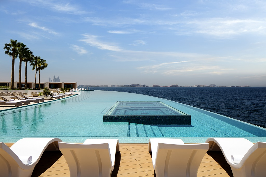 Terrace pool at Burj Al Arab