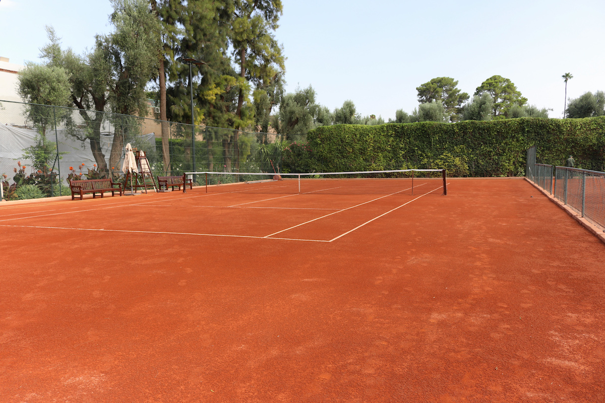 Tennis courts near gardens