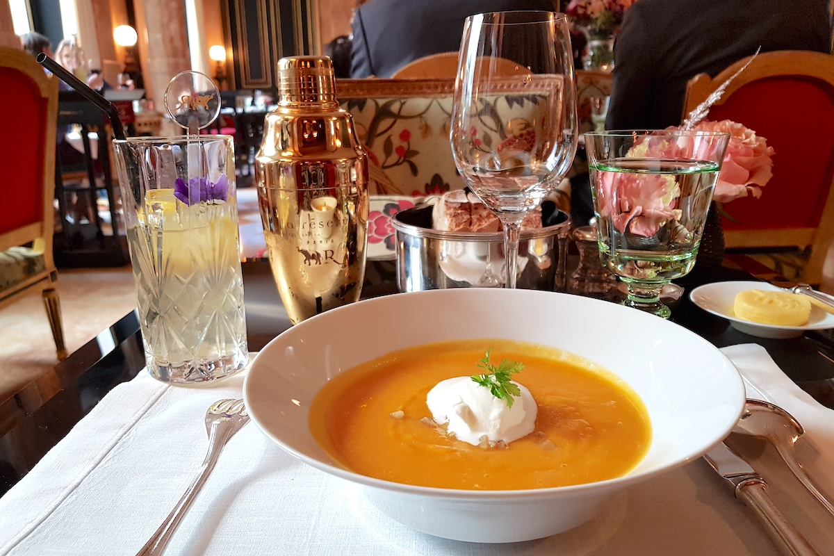 Lunch at La Pagode de Cos - Starter Butternut soup
