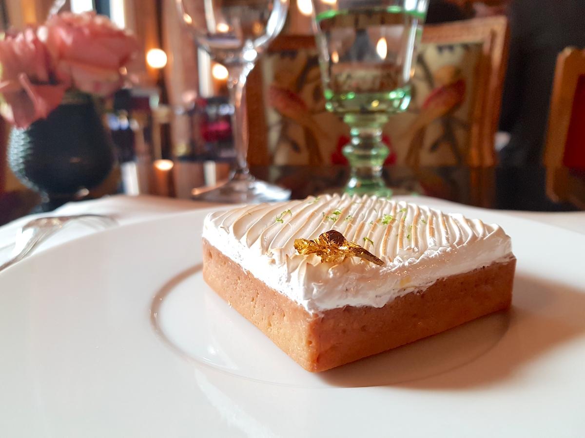 Lunch at La Pagode de Cos - Dessert green lime meringue pie
